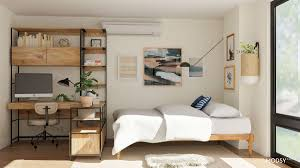 Studio apartment furniture layout Stunning Studio Apartment Layout Guide Modsy Blog Studio Apartment Layout Ideas Two Ways To Arrange Square Studio
