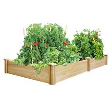 Herb Kitchen Garden Kit Greenes Fence 4 Ft X 8 Ft X 105 In Dovetail Cedar Raised