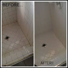 great cleaning grout in shower before and after stanley steemer tile and grout cleaning tile