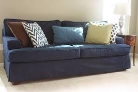 Navy Blue T Cushion Chair Slipcover
