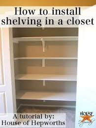 Basic DIY Closet Shelving Closet shelving Shelving and Shelves