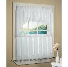 Lace Bathroom Window Curtain Photo