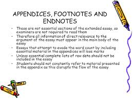 extended essay glenn aucoin tracy giffen amy smith ppt video  appendices footnotes and endnotes