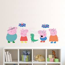on peppa pig wall art stickers with peppa pig wall sticker peppa pig and family wall decal