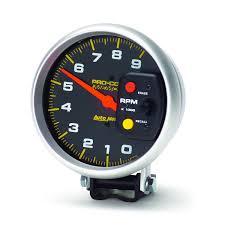 gauges pro comp 5 tachometer 0 9 000 rpm pedestal w peak memory pro comp