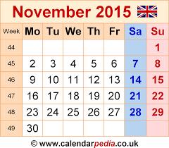 Feel Free To Download November 2015 Calendar Halloween And November