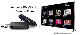 how to perform playstation vue activate on roku