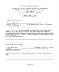Kaiser Doctor Note Template Doctors For Work Absence Sick Sample