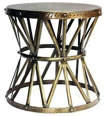 metal drum side table