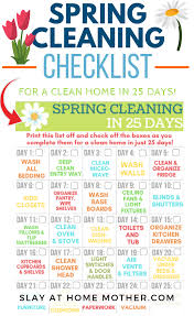 Spring Cleaning Checklist 25 Days To A Clean Home