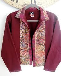 Batik Quilted Sweatshirt Jacket in Burgundy and by SallyManke ... & Batik Quilted Sweatshirt Jacket in Burgundy and by SallyManke, $49.00 Adamdwight.com