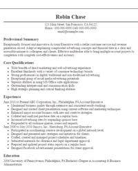 Resume Sample Objectives 2 Account Executive