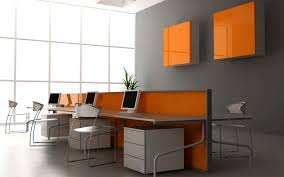 office space colors. marvellous modern office interior design applying grey also white and orange room color furnished with elongated desk completed computer sets chair space colors s