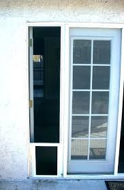 exterior doors with built in pet sliding screen door dog security boss