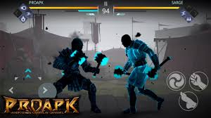 shadow fight 3 gameplay level 4 boss fight sarge proapk