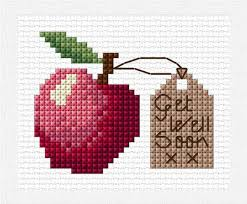 An Apple A Day Cross Stitch Chart Pdf Get Well Soon Card