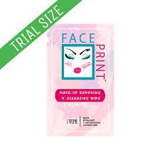 face print trail wipe