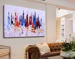 modern art for office. art office decor canvas abstract city acrylic painting colorful modern for f