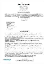 House Cleaning Resume Examples House Cleaning Resume Sample Awesome Custom House Cleaning Resume