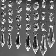 12 garland hanging acrylic crystal clear bead chandelier wedding decor supplies
