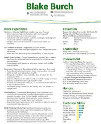 100 Resume Template For College Student Internships
