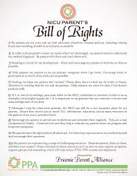 bill of rights ppt nicu parents bill of rights preemie parent alliance