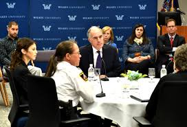 bob casey d scranton center came away from a roundtable discussion at wilkes university with solutions to addressing violence against women and heard