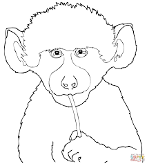 Small Picture Baboon Mother Carries Baby on Back coloring page Free Printable