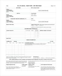 Blank Bill Of Lading Forms Blank Bill Of Lading Form Printable Free Template Naveshop Co