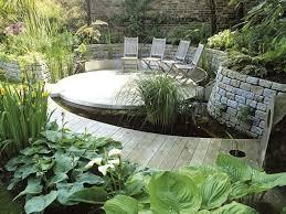 Terrace and Garden: Garden Pond And Deck Ideas - Wooden Deck