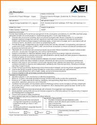 Project Manager Job Description In Construction Construction Project