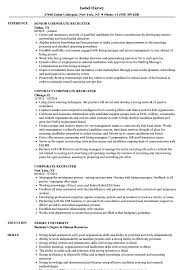 Recruiter Resume Sample Corporate Recruiter Resume Samples Velvet Jobs 47