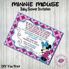 free printable mickey mouse invitations new ba shower invitations regarding baby minnie mouse baby shower invitations