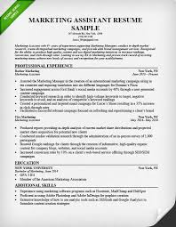 Marketing Assistant Resume Inspiration Marketing Assistant Resume Sample Tips Resume Genius