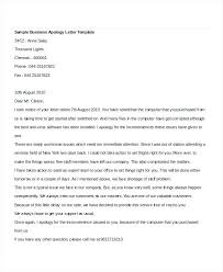 Letter To Business Template Business Apology Letter Sample Sample Business Apology Letter