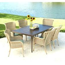 6 person round outdoor dining table outdoor dining set for 6 photo 6 of 7 bay