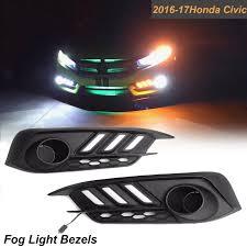 2016 Honda Civic Fog Light Assembly Honda Civic 2016 2017 Led Daytime Running Drl Turn Signal