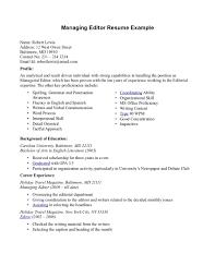 Resume Editing 19 Editor Film Nardellidesign Com