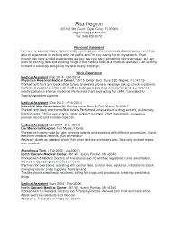 Medical Assistant Back Office Duties Resume Of A Medical Assistant Wikirian Com