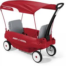 groupon radio flyer kids 2 seat wagon with canopy radio flyer outdoor shade covered