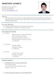 vibrant design resume format samples 10 resume sample philippines - Resume  A Sample