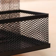 steel mesh desk organizer set desktop supply caddy and pen holder mini hutch organizer storage table counter in kit black in desk set from office school