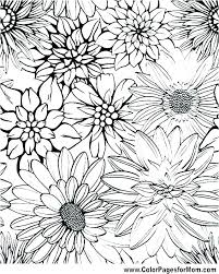 Flower Coloring Pages Printable Free Cspninfo