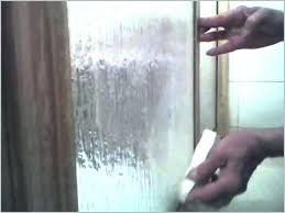 shower door cleaning hard water spots on glass how
