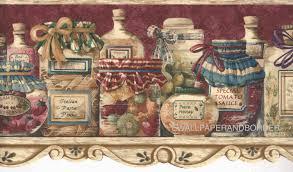 Kitchen Wallpaper Border Vintage Food ...