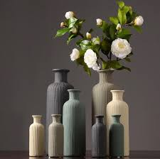 <b>European Ceramic Vase</b> Ridged Flower Holder — Gadget Flow Shop