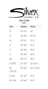 Grace In La Size Chart Silver Jeans Size Chart Conversion Silver Jean Size