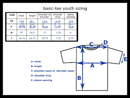 Anvil Youth Shirt Size Chart Youth Tee Shirt Size Chart Coolmine Community School