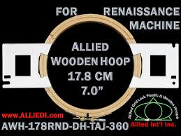 renaissance hoop embroidery frame 360 mm as allied wooden 18 cm 7 0