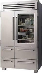 Sub-Zero Pro 48 Refrigerator/Freezer with Glass Door - contemporary -  refrigerators and freezers - by Sub-Zero and Wolf